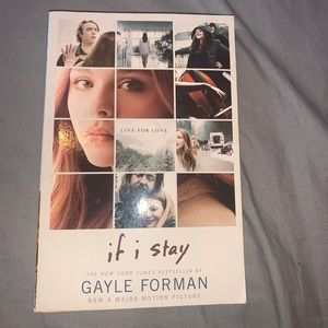 "(3/$20) ""If I stay"" book by gayle forman"